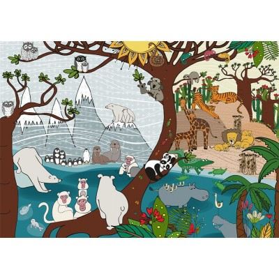 Puzzle Deico-Games-76410 Nature Collection - Summer and Winter