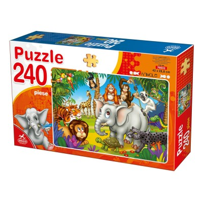 Puzzle Deico-Games-76632 Animaux Sauvages