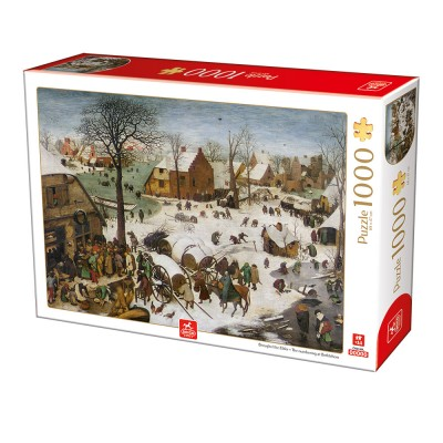 Puzzle Deico-Games-76649 Brueghel Le Vieux - The numbering at Bethlehem