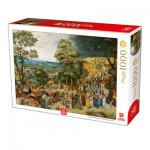 Puzzle  Deico-Games-76663 Breughel Le Jeune - Christ Carrying the Cross