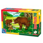 Puzzle  Dtoys-60211-AN-03 Animaux sauvages : Famille d'ours