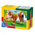 Dtoys-60464-AD-01 Mini Puzzle : Vache