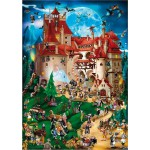 Puzzle  DToys-61218-CC08-(70852) Cartoon Collection - Vampire party
