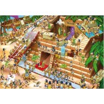 DToys-64974-CP01 Puzzle difficile - Cartoon pyramide d'Egypte