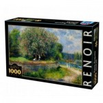 Puzzle  DToys-66909-RE07-(74904) Auguste Renoir - Marronnier en fleurs