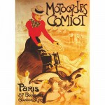 Puzzle  DToys-67555-VP02 Poster vintage - Motocycles Comiot, Paris