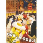 Puzzle  DToys-67555-VP08 Poster vintage - Moulin-Rouge