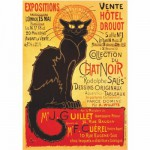 Puzzle  DToys-67555-VP09 Poster vintage - Collection du Chat Noir