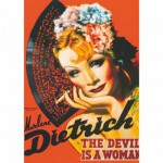 Puzzle  DToys-67555-VP10 Poster vintage - Marlene Dietrich, The Devil is a Woman