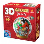 Dtoys-67609-GP-04 Puzzle Globe - On t'aime Père Noël
