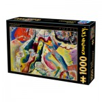 Puzzle  Dtoys-72849-KA02-(75116) Kandinsky Vassily: Painting with Red Spot