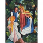 Puzzle  Dtoys-72863-MA01-(72863) August Macke : Quatre Filles