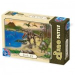 Puzzle  Dtoys-73013-DP-01 Dinosaures