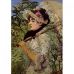 Puzzle  Dtoys-73068-MA02-(73068) Manet Édouard : Le Printemps