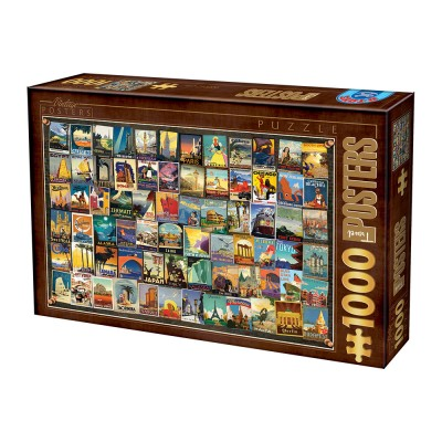 Puzzle Dtoys-74621 Vintage Collage - Voyage