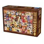 Puzzle  Dtoys-75291 Vintage Collage - Cabaret