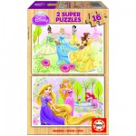 Educa-15283 2 Puzzles en Bois - Princesses Disney