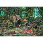 Puzzle  Educa-16013 Jungle Africaine