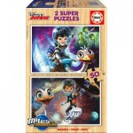Educa-16797 2 Puzzles en Bois - Disney Junior
