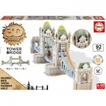 Educa-16999 Puzzle 3D en Bois - Tower Bridge
