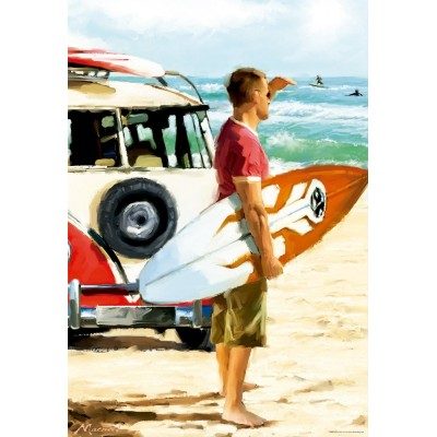 Puzzle Educa-17084 Surfer