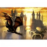 Puzzle  Educa-17312 Sunset Dragon