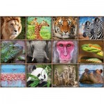 Puzzle  Educa-17656 Collage d'Animaux Sauvages