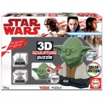 Educa-17801 Puzzle Sculpture 3D - Star Wars Yoda