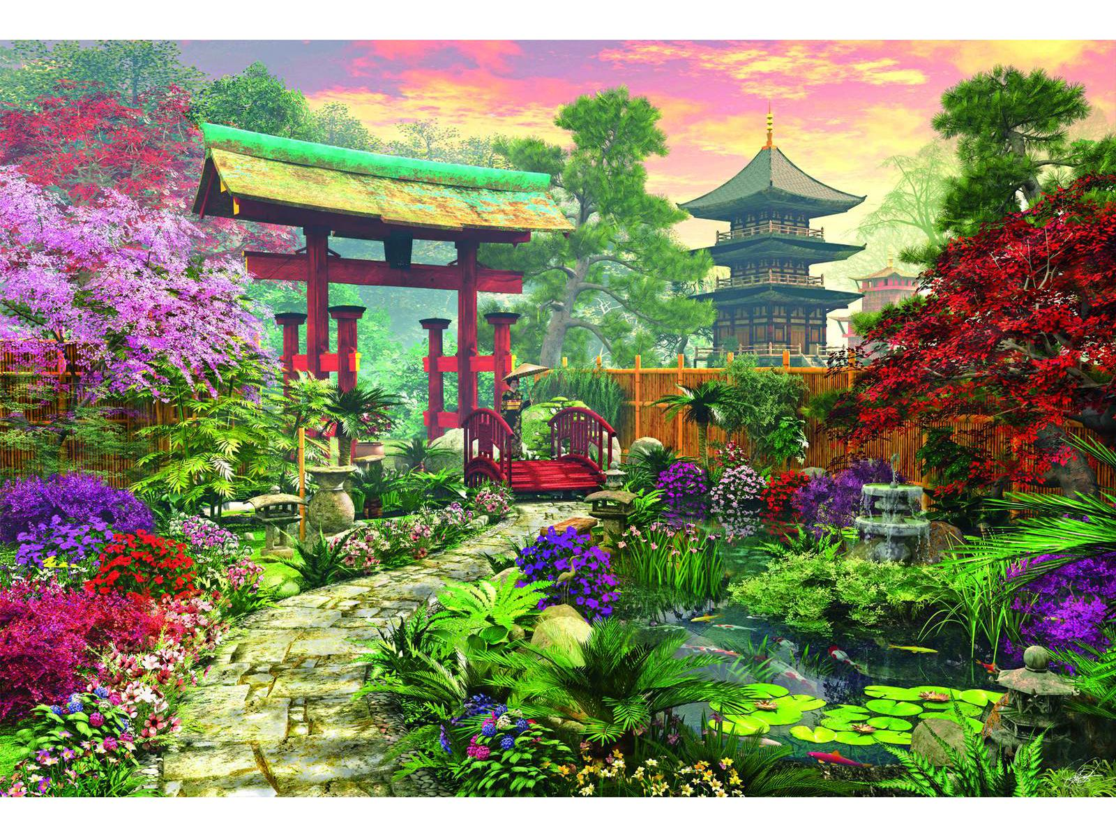 puzzle jardin japonais educa 16019 3000 pi ces puzzles for ts fleurs et jardins planet 39 puzzles. Black Bedroom Furniture Sets. Home Design Ideas