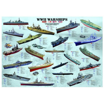 Puzzle Eurographics-6000-0133 Navires de guerre WWII