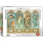 Puzzle  Eurographics-6000-0824 Mucha Alfons : Four Seasons