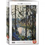 Puzzle  Eurographics-6000-0922 Study for Northern River by Tom Thomson