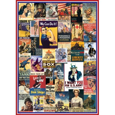 Puzzle Eurographics-6000-0937 World War I & II Vintage Posters