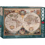 Puzzle  Eurographics-6000-1997 Carte du Monde Antique