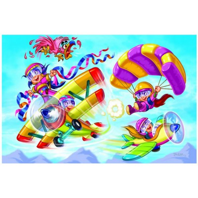 Puzzle Eurographics-6100-0523 Girl Power - Pilotes