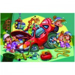Puzzle  Eurographics-6100-0650 Girl Power - Mécanicienne