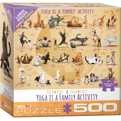 Puzzle Eurographics-6500-5354 Pièces XXL - Yoga is A Family Activity