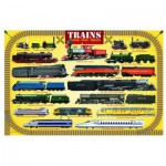 Puzzle  Eurographics-8104-0090 Trains