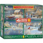 Eurographics-8904-0982 4 Puzzles - Sam Timm: Holiday Deluxe Puzzle Set
