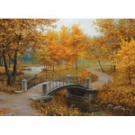 Puzzle   Autumn in an Old Park by Eugene Lushpin