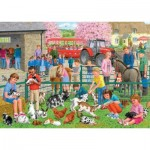 Puzzle  Jumbo-11089 Sarah Adams - A day at the farm
