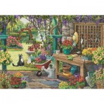 Puzzle  Jumbo-11139 Pièces XXL - Nancy Wernersbach - Garden in Bloom