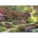 Puzzle  Jumbo-11141 Pièces XXL - Dominic Davison - The Carpenter's Cottage
