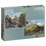 Jumbo-11152 2 Puzzles - Around Britain - Corfe Castle