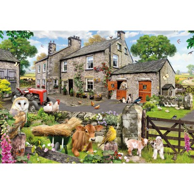 Puzzle Gibsons-G2217 Pièces XXL - Howard Robinson - Farmyard Friends