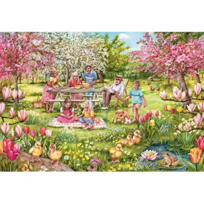 Puzzle Gibsons-G2709 Pièces XXL - Five Little Ducks