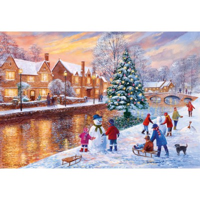 Puzzle Gibsons-G3088 Terry Harrison: Bourton at Christmas