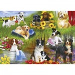 Puzzle  Gibsons-G3129 Playful Pups