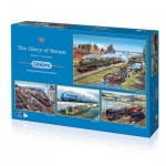 Gibsons-G5038 4 Puzzles - Barry Freeman: The Glory of Steam