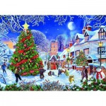 Puzzle   Pièces XXL - Steve Crisp - The Village Christmas Tree
